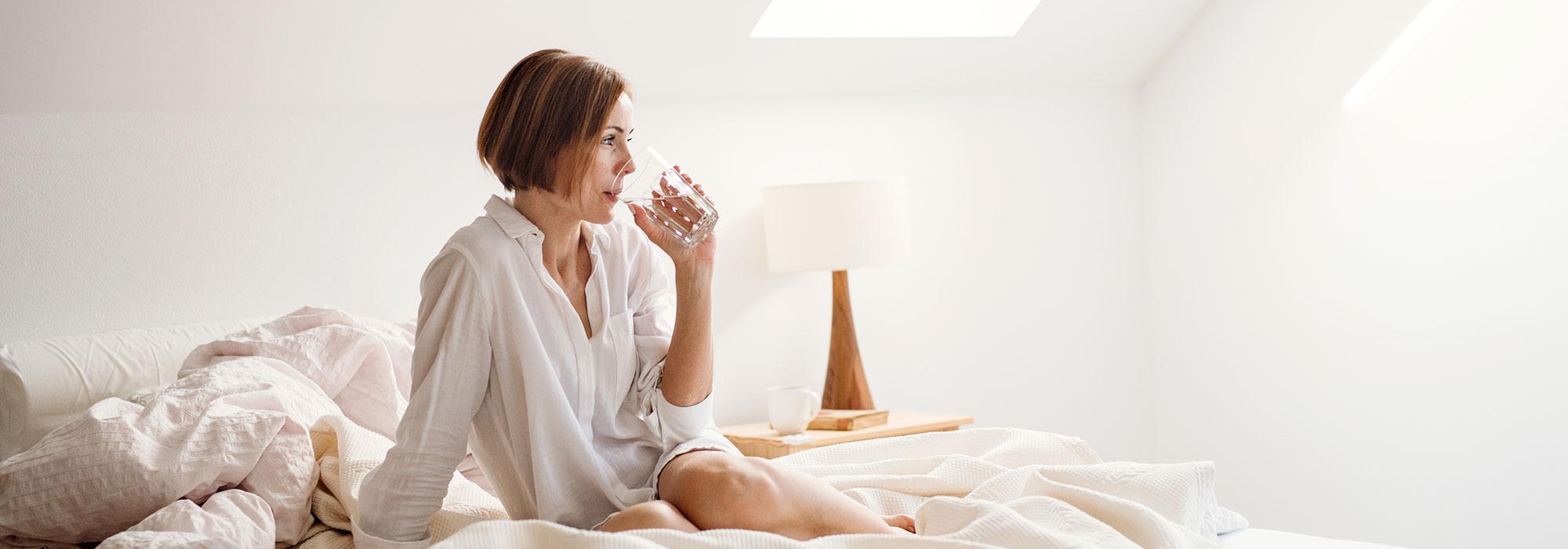 mejorar la calidad del descanso no tomando agua